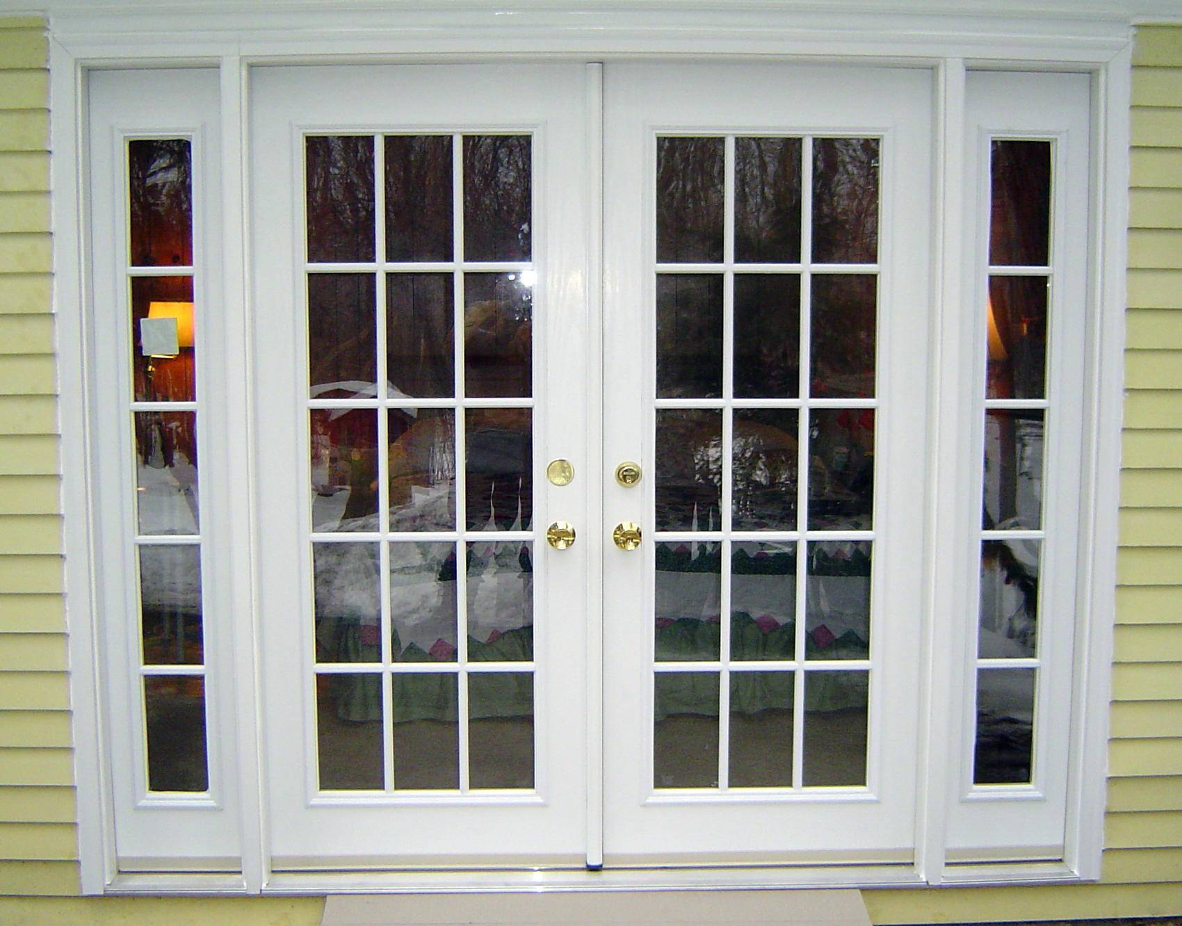 French doors door and window center for california for Small double french doors